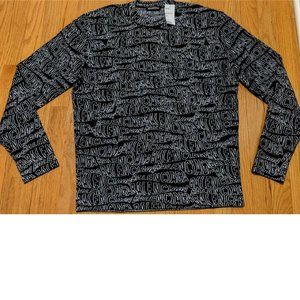 Balenciaga Multi-Logo Printed Crewneck Sweater